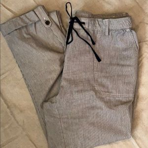 Summer pinstriped cotton pants by Lands End
